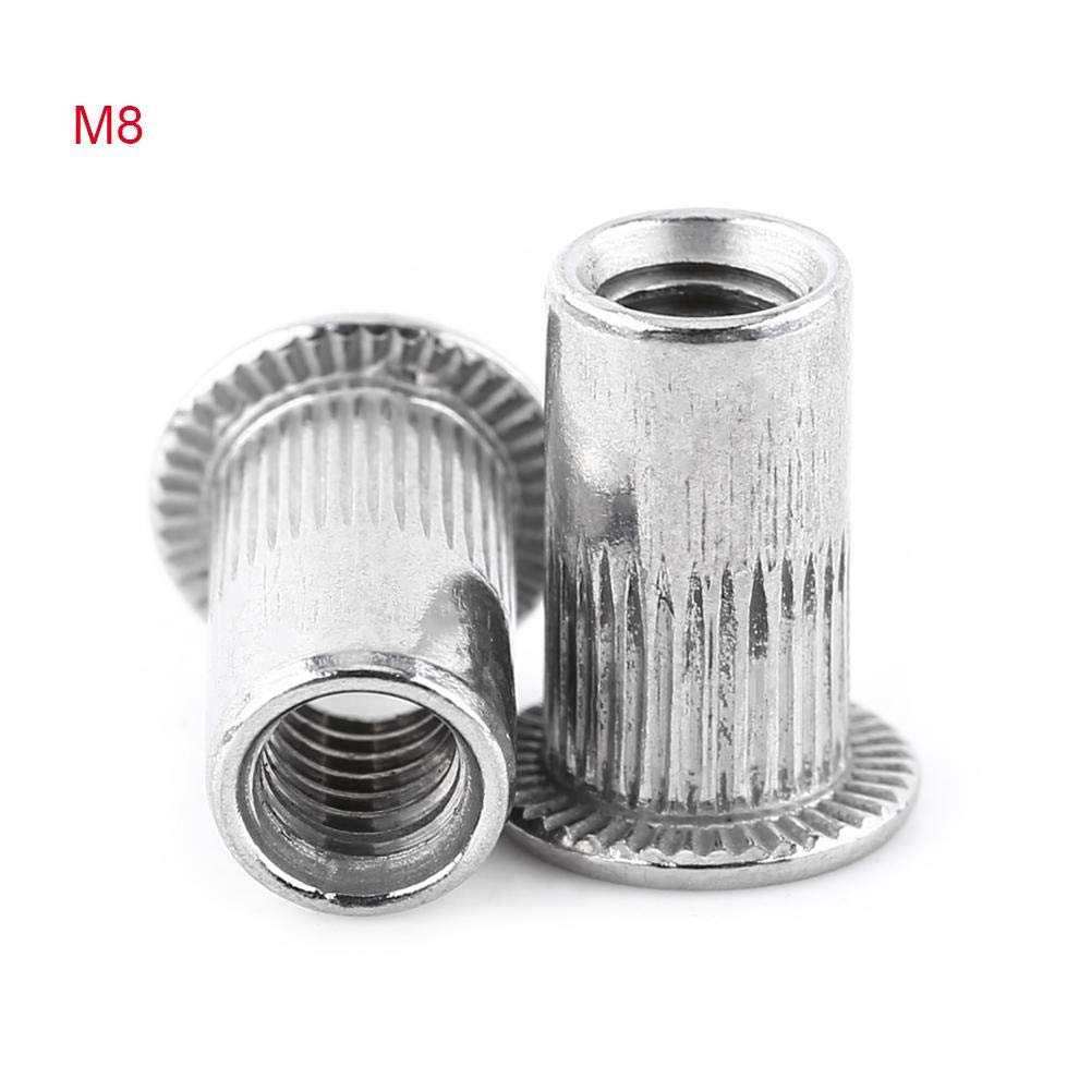 M3-M8 Stainless Steel 304 Small With Countersunk Head Riveting Crazy Insert Rivet Nut Cap (20 Pack)(#5)