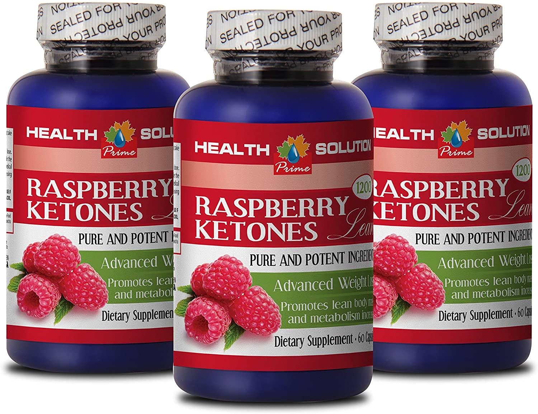 Metabolism Booster for Weight Loss for Women - Raspberry Ketones Lean (Advanced Formula) 1200mg - Green Tea Raspberry Ketones - 3 Bottles 180 Capsules