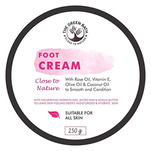 Foot Cream With Rose Oil, Olive Oil & Coconut Oil