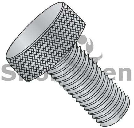 6-32X3/8 Knurled Thumb Screw Full Thread Aluminum - Box Quantity 100 by Shorpioen BC-0606TKAL
