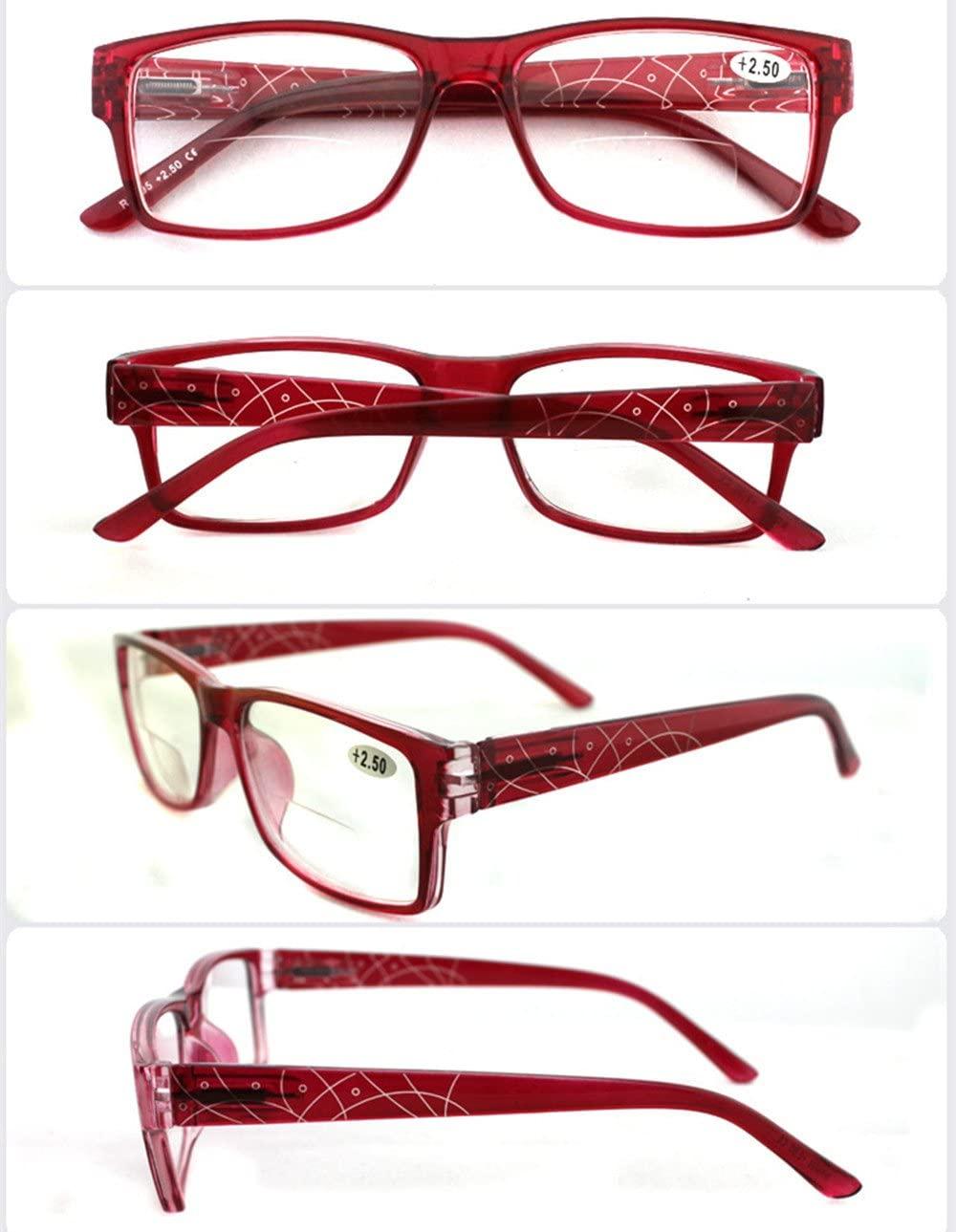 Lily Garden Bifocal Reading Glasses Full Frame Resin Plastic (reb, 2.50)