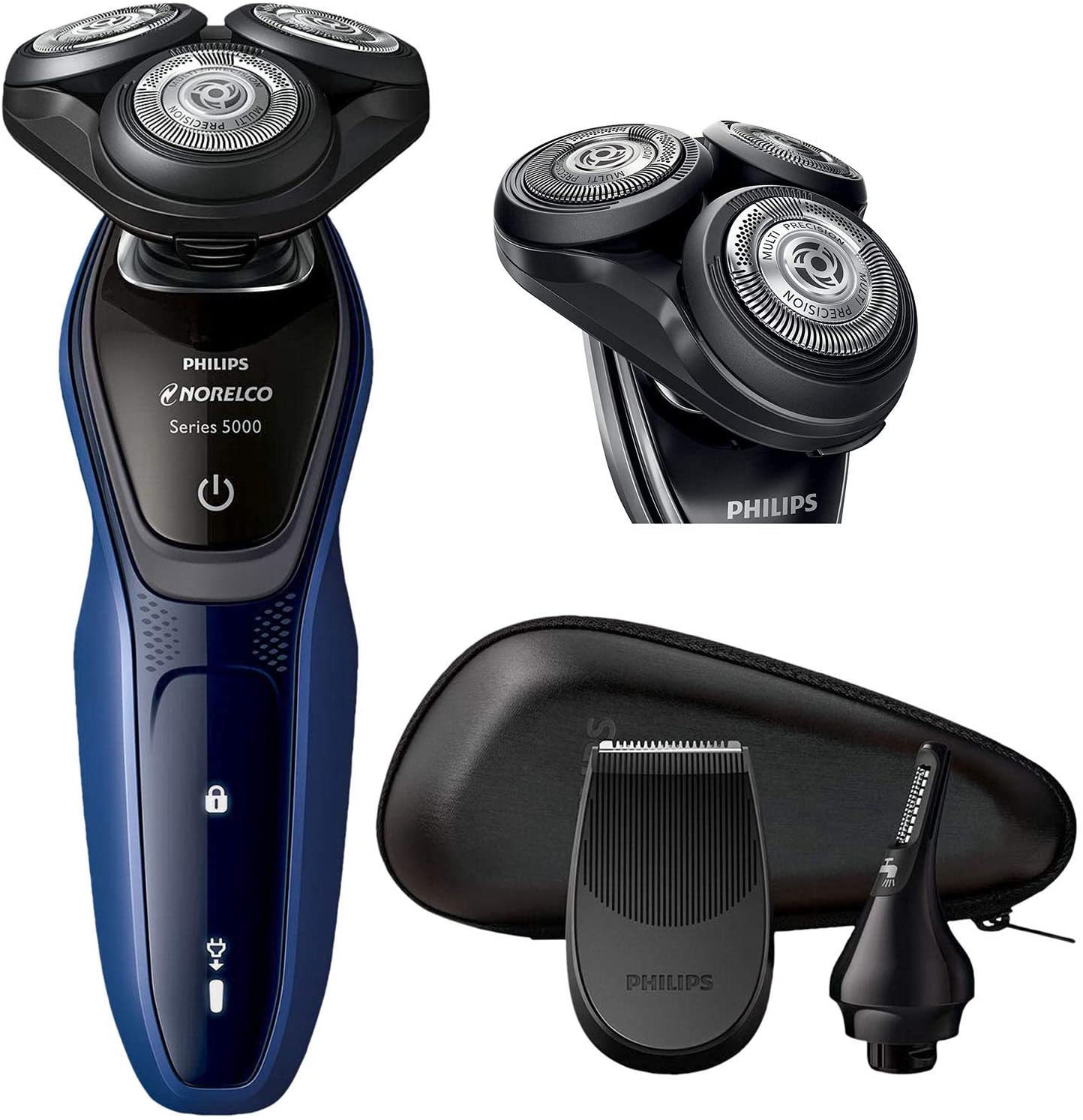 Philips Norelco Shaver with SmartClick Nose & Ear Trimmer