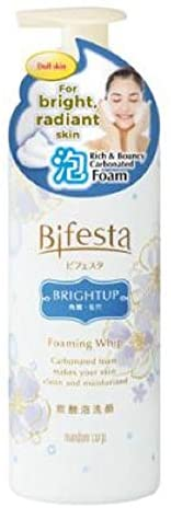 BIFESTA Bright Up Foaming Whip 180ml-Ultra fine & Dense Carbonated Foam Easily penetrates deep into pores to wash Away sebum, impurities & Dead Skin Cell While moisturizing Skin