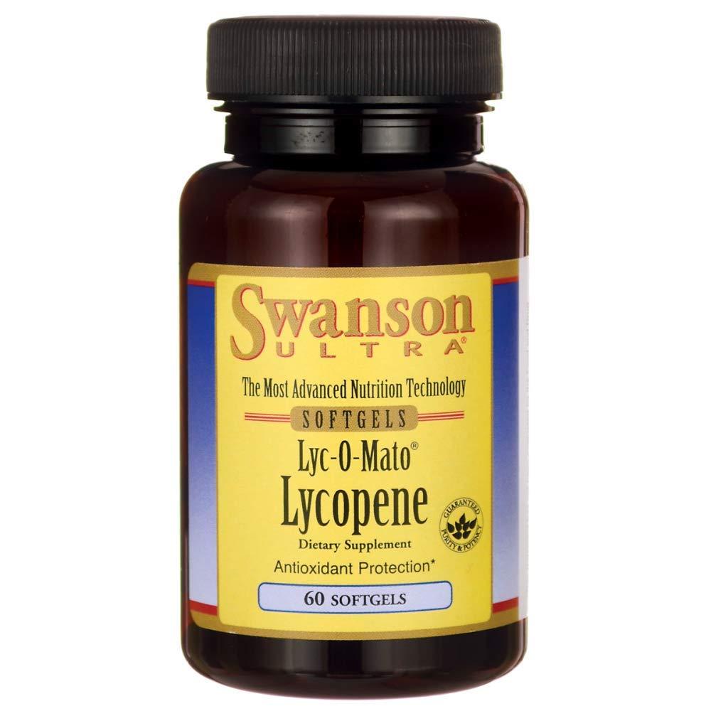 Swanson Lyc-O-Mato Lycopene 10 Milligrams 60 Sgels