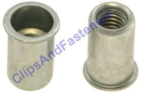 100 M4-.7 Metric Thin Sheet Steel Nutserts