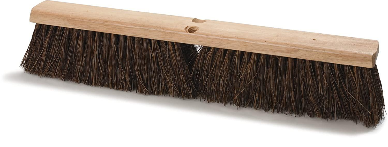 Carlisle 3621911800 Flo-Pac Hardwood Block Heavy Floor Garage Sweep, Palmyra Bristles, 18
