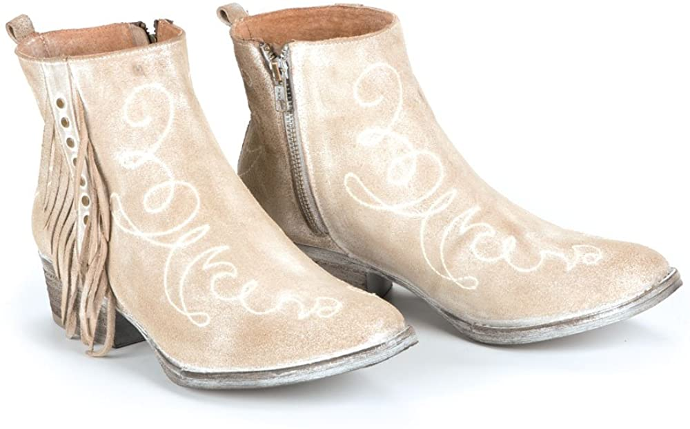 Circle G Scroll Embroidered Boots With Fringe
