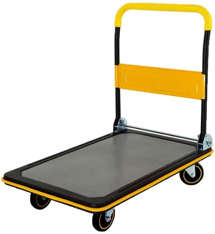 CHENJIU Heavy Duty Hand Truck Large Capacity Stair Climbing Cart Portable Folding Trolley with Three-Wheels Upstairs Cargo with Anti-Scratching Mat