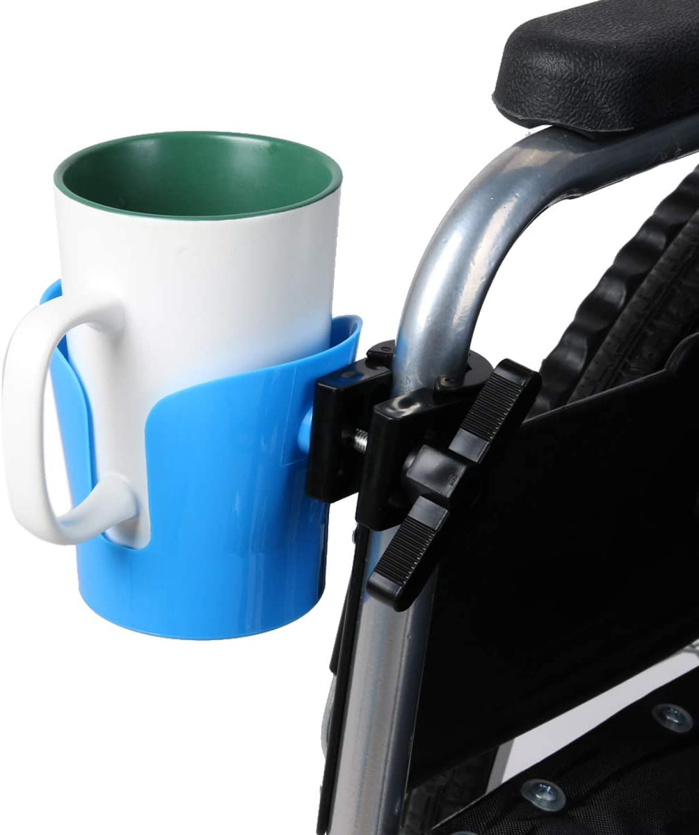 Kangwell Wheelchair Bottle Cages (2-PCs) | Lightweight & Weightlight Fast Fix/Remove Water Bottle Holder, Ultralight Bottle Cages for Stroller and Wheelchair