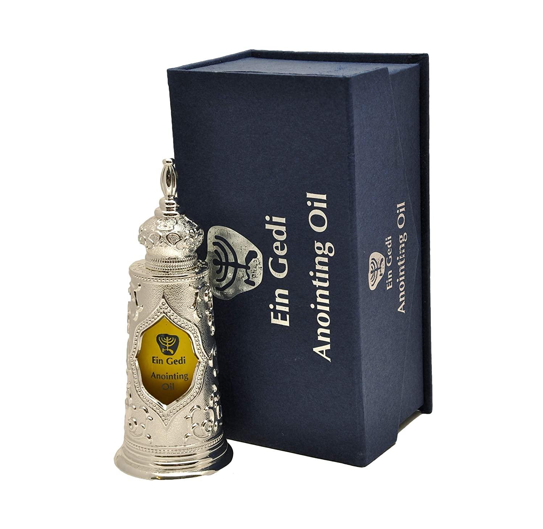 Light Of Jerusalem Anointing Oil 125ml Silver Bottle Box From Holyland (125ml)