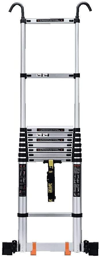 LADDERS Ladder Telescopic Ladders,Multi Purpose Telescoping Ladder with Hooks, Aengineering Telescopic Extendable Ladder for Loft, 330Lbs Capacity,3.1M/10.2Ft