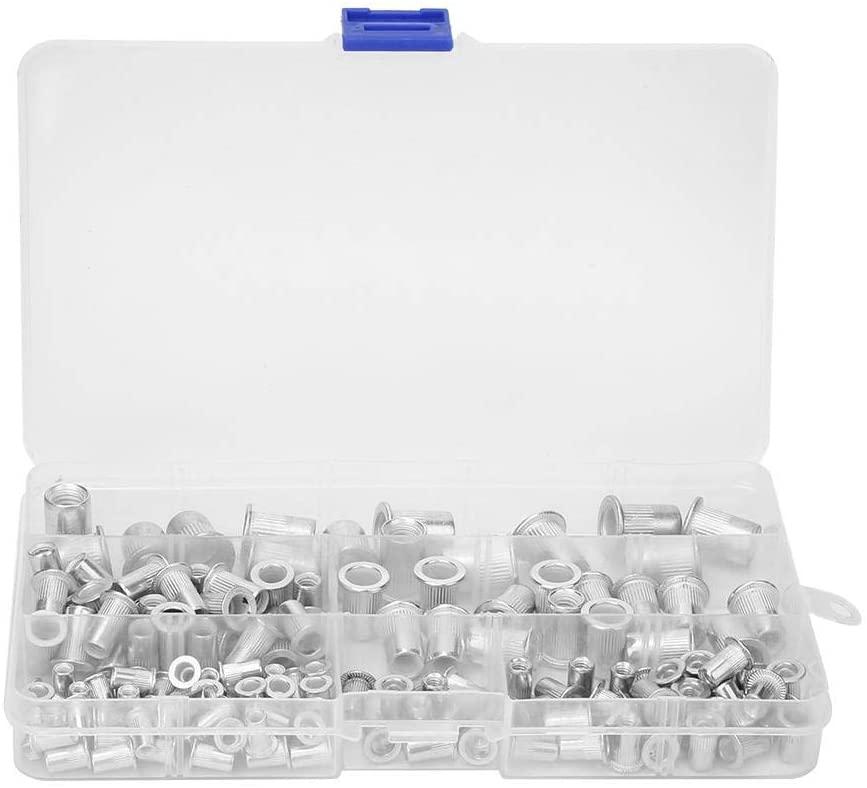 150pcs Rivet Nut,M3 M4 M5 M6 M8 Aluminum Rivet Nut Threaded Insert Nuts Kit Hardware Fasteners
