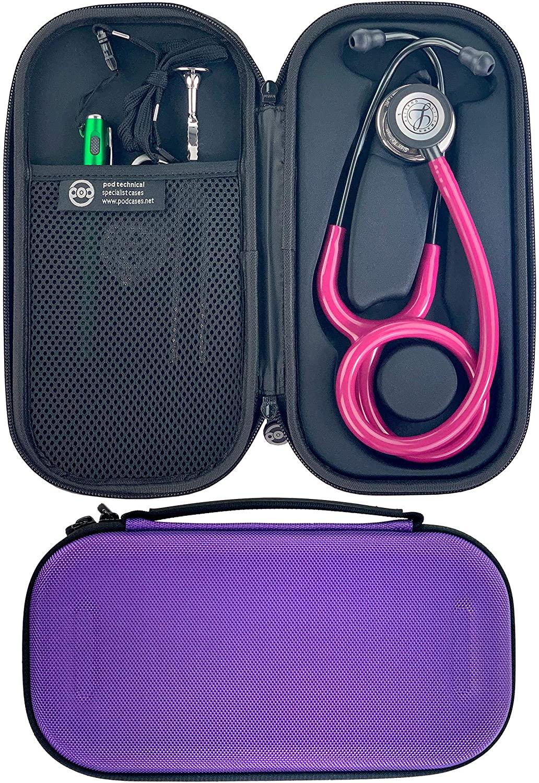 Pod Technical Classicpod Micro Stethoscope Case for Littmann Classic Stethoscopes - Purple
