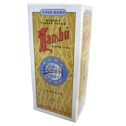 Bambu Pure Hemp Big Cigarette Rolling Papers (24 Booklets) #PH-203