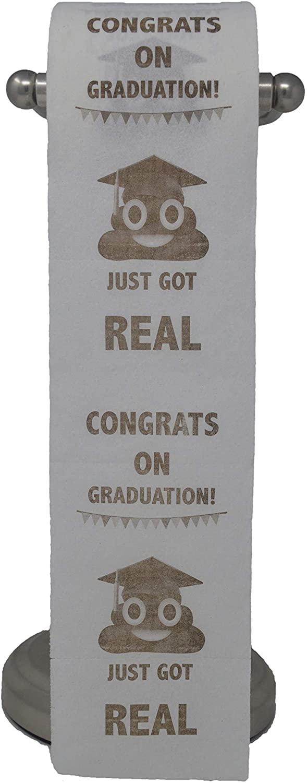 Happy Graduation Toilet Paper Prank Funny Gag Gift College, High School Grads