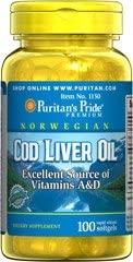1 BOTTLE Norwegian Cod Liver Oil 415mg 100 Softgels