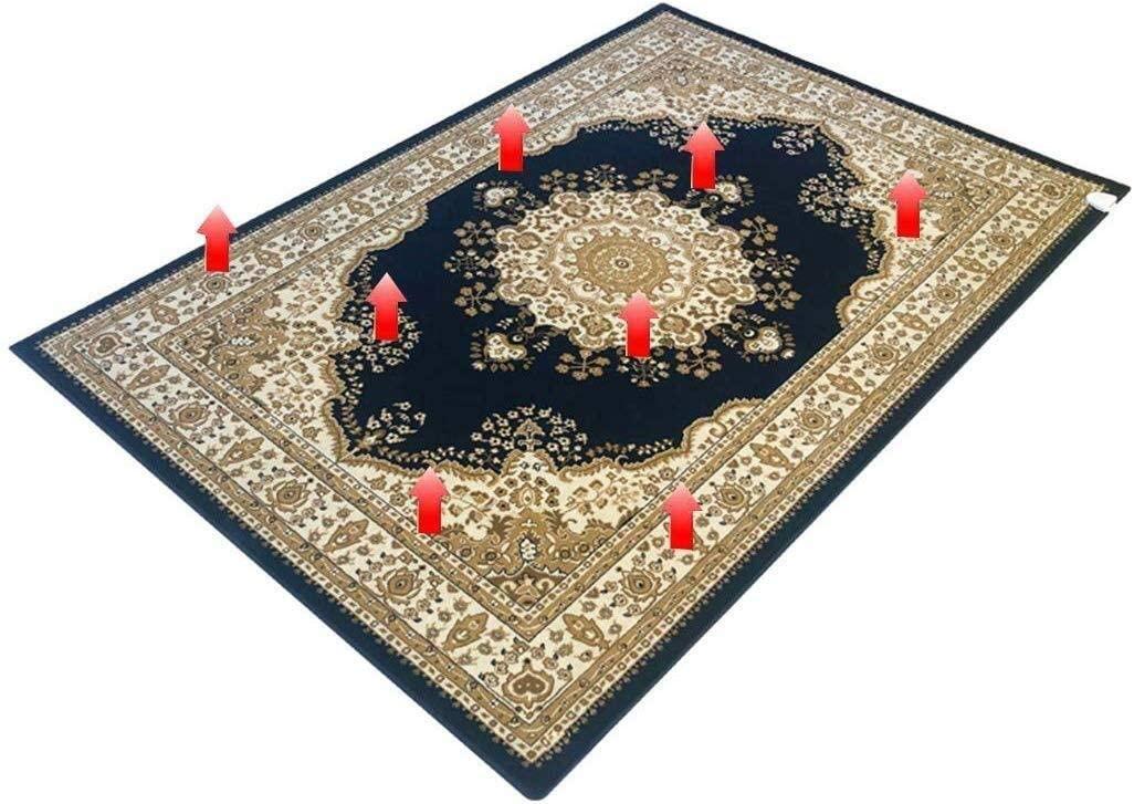 Bedroom Warm Foot Carpet Mobile Electric Geothermal,Carbon Crystal Warm Pad Heater Floor Map Living Room Heating Carpet Under-Rug Blanket 62x90in 1231