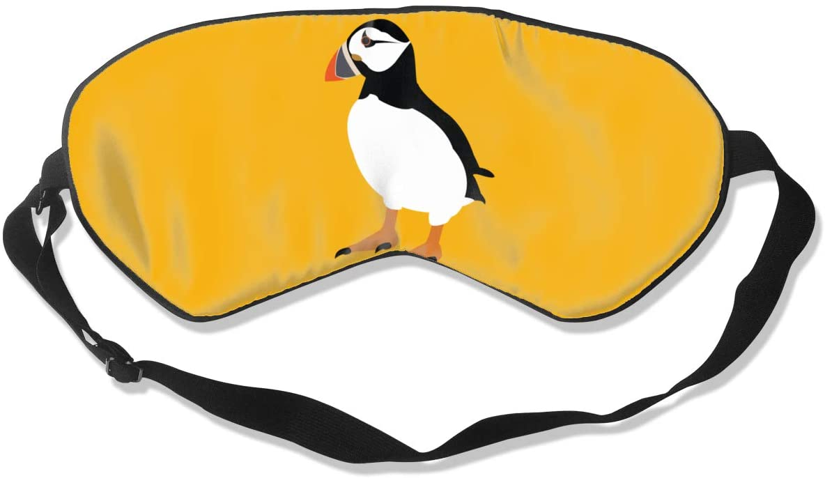Puffin Bird Eye Mask Sleeping Mask 100% Double-Sided Silk Eyeshade Eye Cover