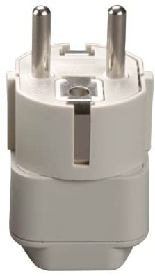 DekCell Grounded Europe Adapter - CE Certified - USA to Europe - Heavy Duty Adapter