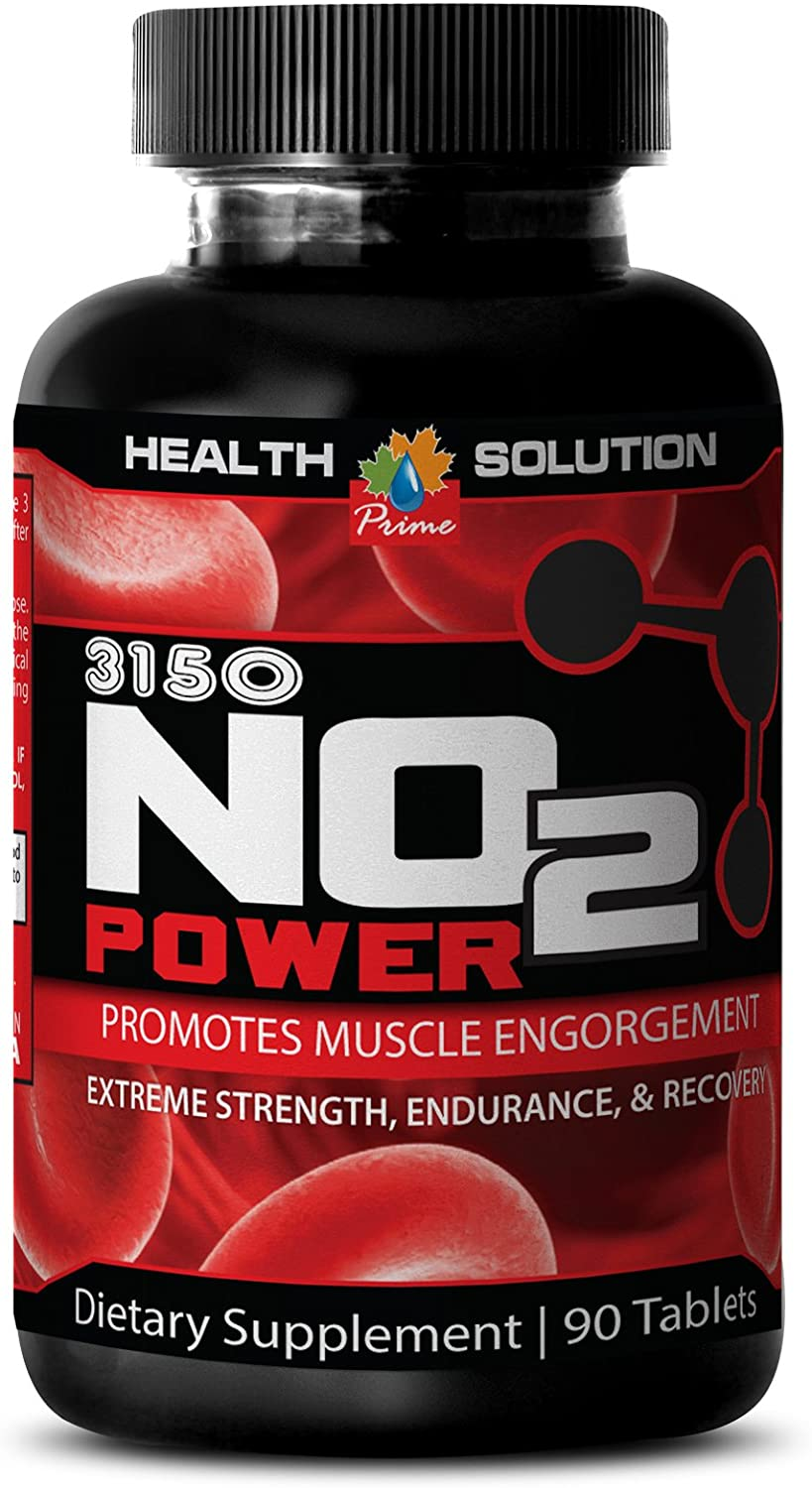 Energy Supplement Natural - Premium Natural Nitric Oxide 3150MG - Nitric Oxide arginine Supplements - 1 Bottle (90 Capsules)