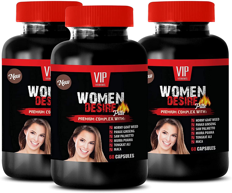 Natural Energy Booster Women - Women Desire Pills - Premium Complex - tongkat ali Root Extract - 3 Bottles 180 Capsules