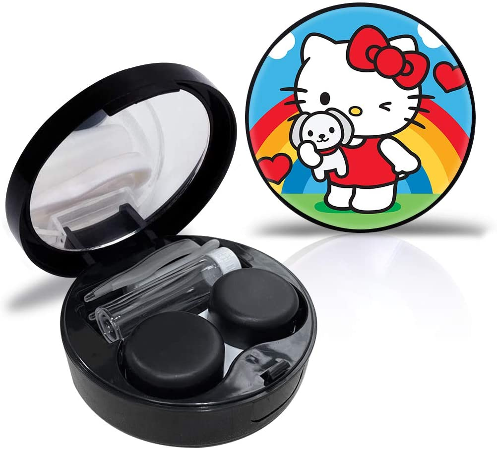 Hello kitty Contact Lens Case Cute Contact Lens Travel Case Contact Lens Case Container Holder Storage Box Portable Contact Lens Travel Kits