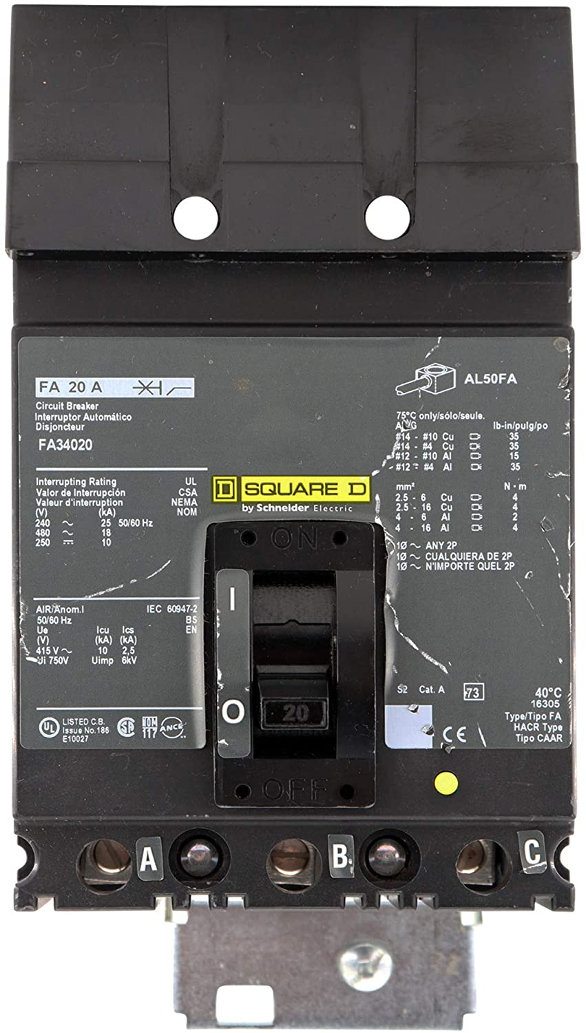 Square D FA34020 Circuit Breaker
