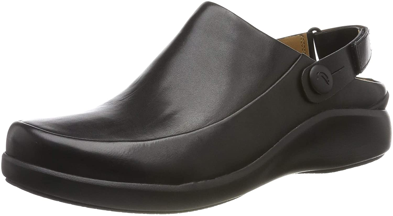 Clarks Womens Un.loop2 Strap Loafers, Black (Black Leather Black Leather), 4.5 UK