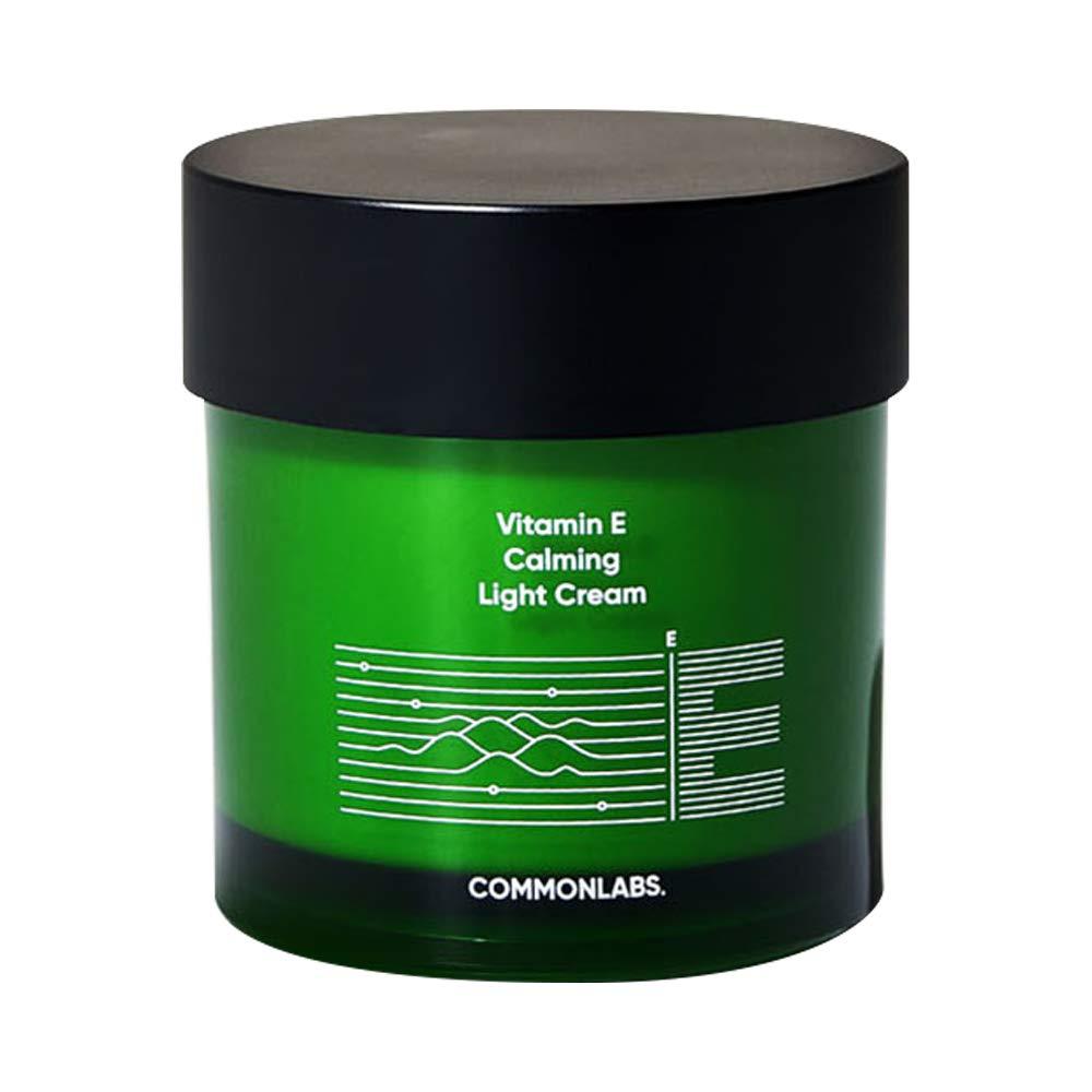 COMMONLABS Vitamin E Calming Light Cream 70g, Soothing Moisturizing Tea Tree Extract Enhancing Skin Barrier