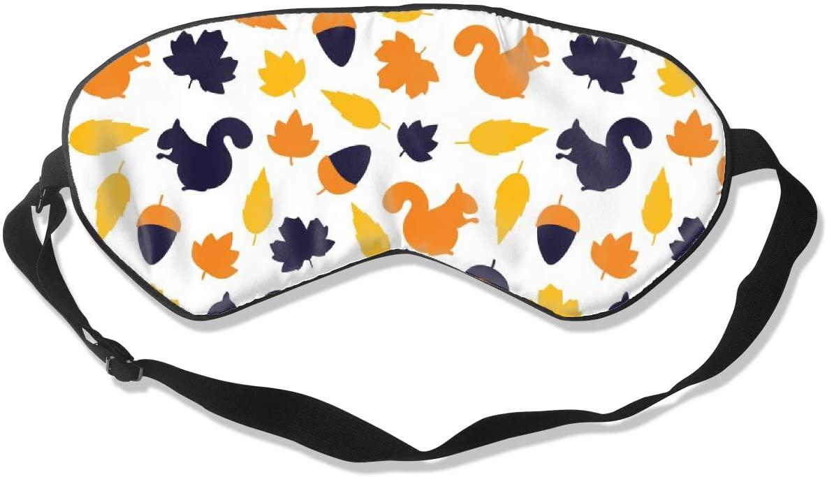Squirrel Nut Maple Eye Mask Sleeping Mask 100% Double-Sided Silk Eyeshade Eye Cover