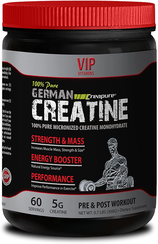 Lean Muscle Supplements - German CREATINE Powder - MICRONIZED CREATINE MONOHYDRATE CREAPURE 300G 60 Servings - Pure creatine monohydrate Powder