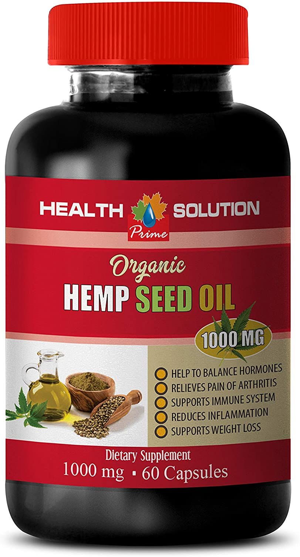 Stress Relief Pills for Men - Hemp Seed Oil for Pain Relief - Hemp Oil for Pain Relief 1000 mg - 1 Bottle 120 Liquid Capsules