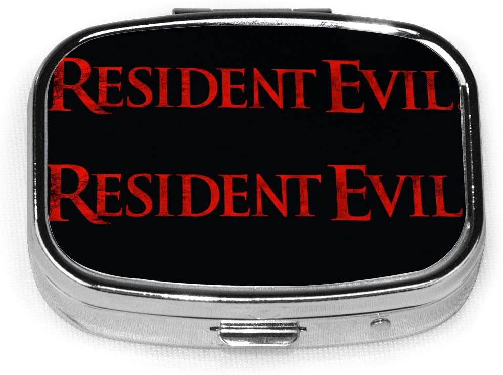 Wehoiweh Resident Evil Horror 2.2x1.6x0.7 Inch Mini Medicine Box, Full Size Printing is Easy to Carry