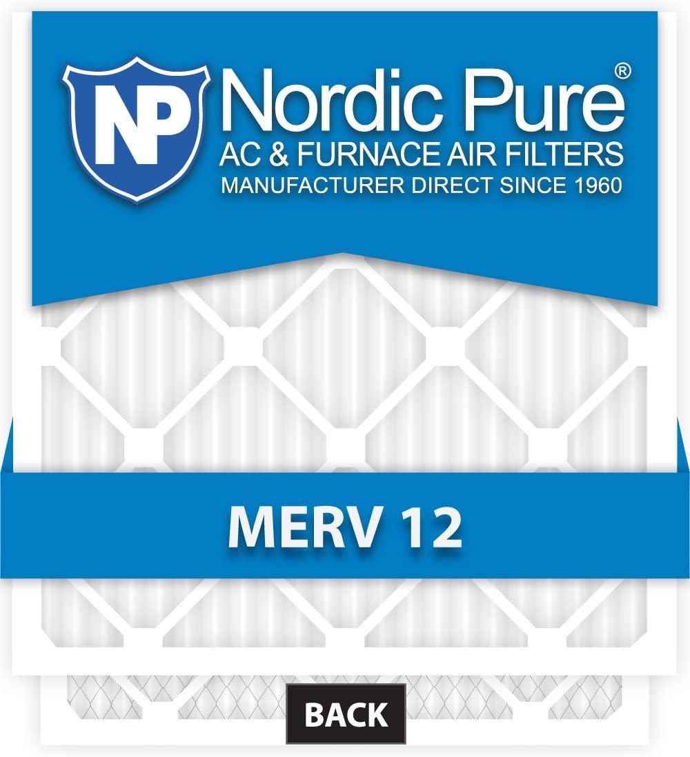 10x10x1 Exact MERV 12 AC Furnace Filters Qty 6