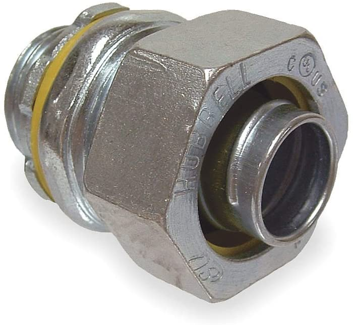 Raco 3412 Straight Connector, 3 In, Non Insulated