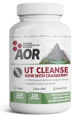 UTI Cleanse D-Mannose 1000mg + Cranberry 100mg (120 Tablets) Brand: A.O.R Advanced Orthomolecular Research