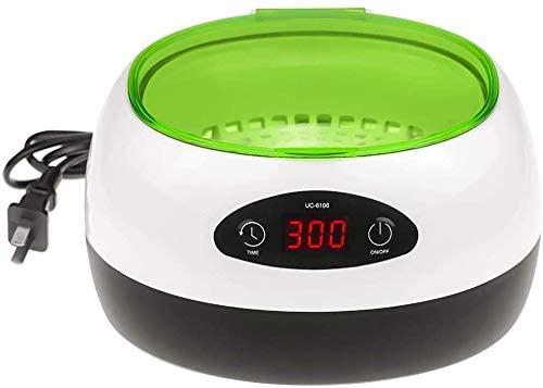 DOC.ROYAL Digital Ultrasonic Cleaner Machine 50W for Jewelry Cleaning 750ml (Green) UC-6106