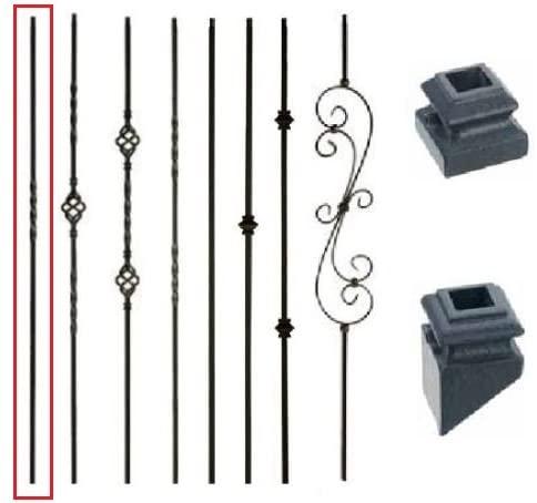 15 ea of Single Twist Metal Stair Parts Hollow SATIN BLACK color