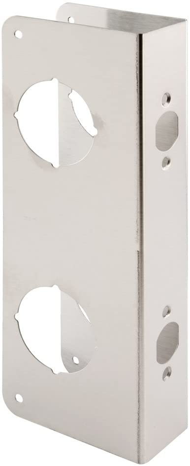Prime-Line U 10539 Lock and Door Reinforcer Reinforce and Repair Doors, Add Extra Security to your Home and Prevent Unauthorized Entry, 5-1/2 in, 2-3/8' x 1-3/4 in, Stainless Steel