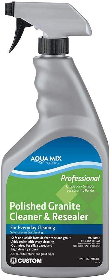 Custom Building Products AMGCRQT Aqua Mix Polished Granite Cleaner & Resealer
