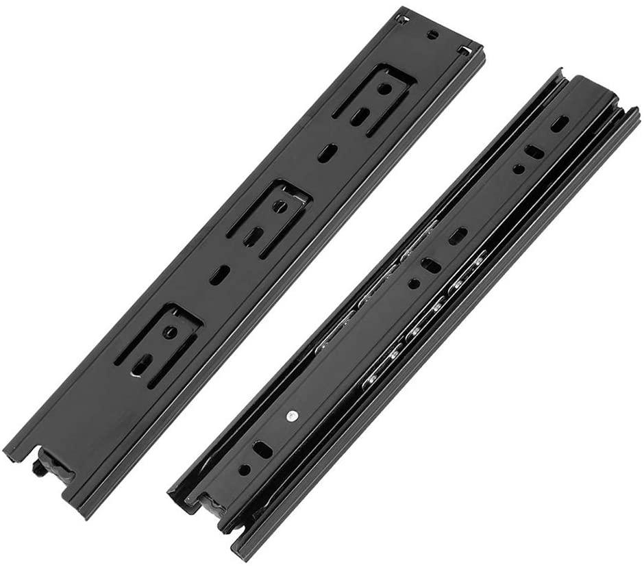 Cyful 10 Inch Full Extension Ball Bearing Drawer Slides Heavy Duty Soft Close Drawer Slide Rail,1 Pair (Black)