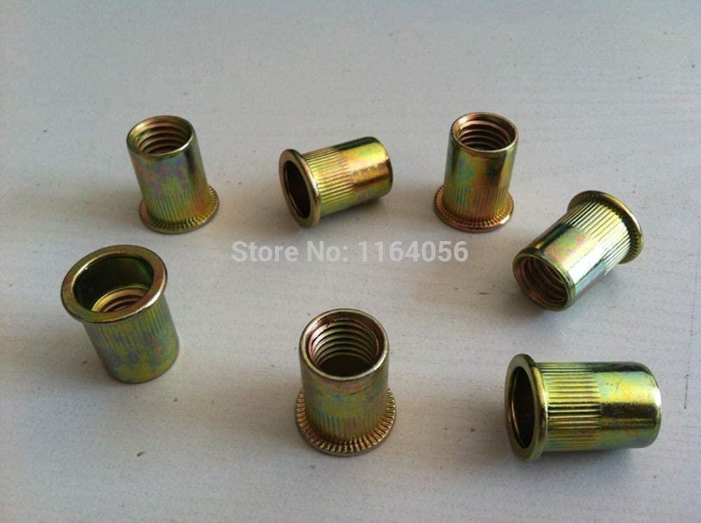 Ochoos 20pcs Metric Steel Flat Head M10 Blind Insert Rivet Nut Rivnut