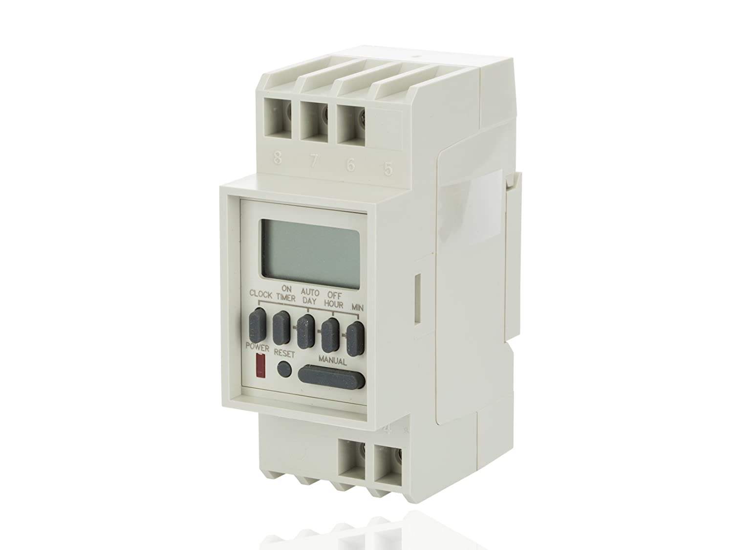 Din Series 1 Channel 7 Day Time Switch, SPDT Dry Contacts, 120VAC Clock Input 50/60 Hz