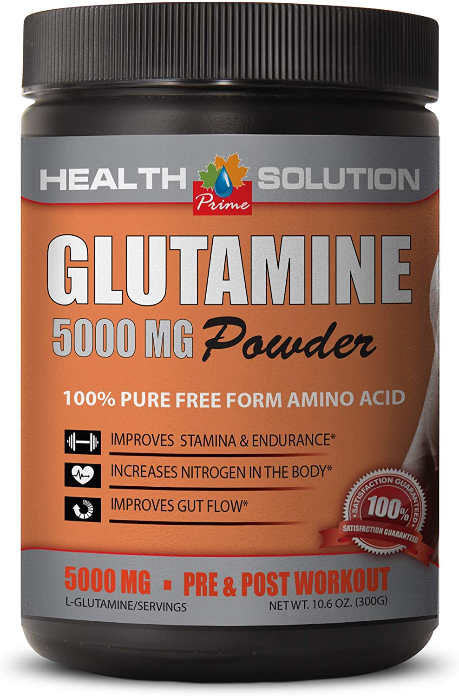 Post Workout Supplement - GLUTAMINE 5000MG Powder - 100% Pure Free Form Amino Acid - l-glutamine Best - 1 Can 300 Grams