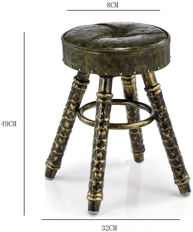 CHAIR Wrought Iron Vintage Rotary Stool Beauty Stool Massage Physiotherapy Stool Stool Stool Makeup Nail Chair Height,B