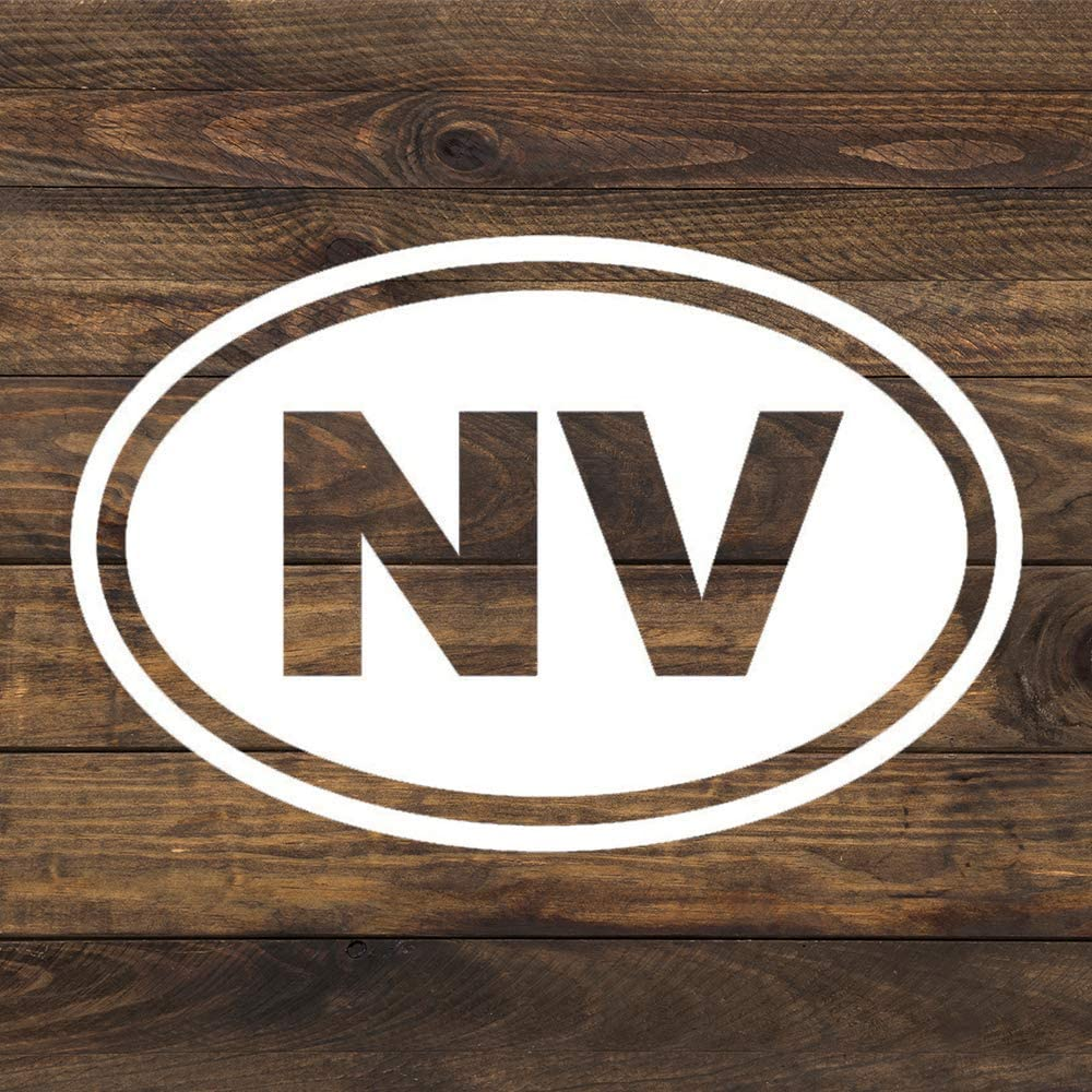 None Brand Nevada NV Oval Vinyl Sticker Graphic Bumper Tumbler Decal for Vehicles Car Truck Windows Laptop MacBook Phone Wall Door