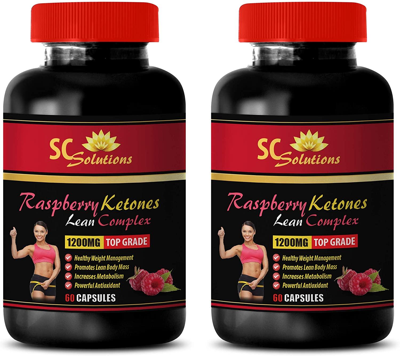 Fat Burner Natural Pills for Women - Raspberry Ketones Lean Complex 1200MG - TOP Grade - Raspberry Ketone Extract - 2 Bottles (120 Capsules)
