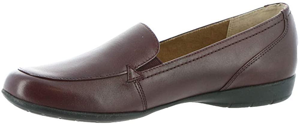 Array Womens TAFT Leather Slip On Loafers Red 7 Medium (B,M)