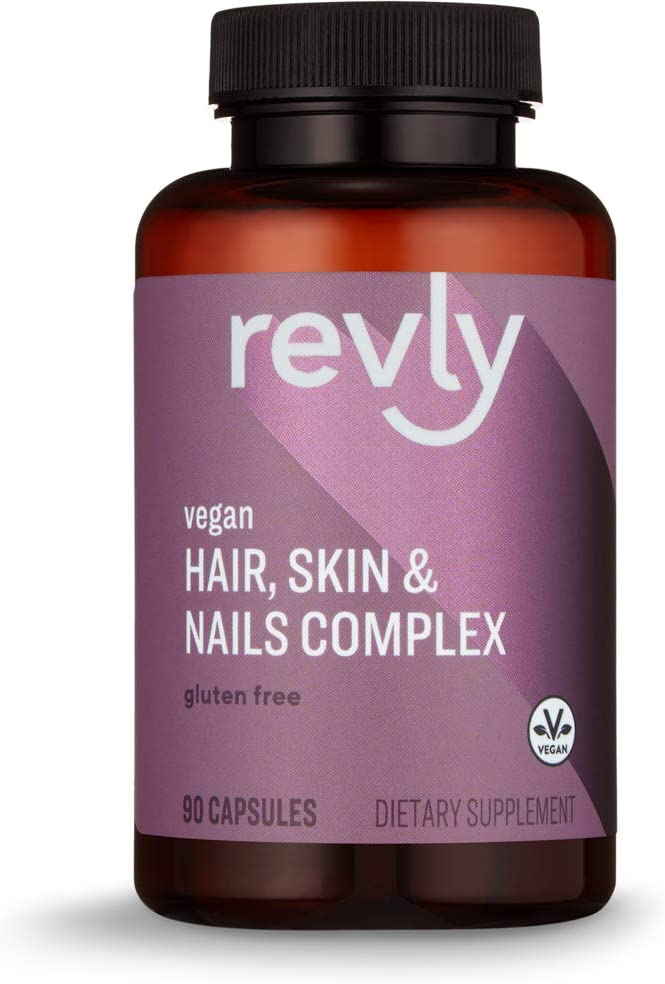 DHgate Brand - Revly Vegan Hair, Skin, & Nails Complex with Biotin 2000 mcg, 90 Capsules, 3 Month Supply