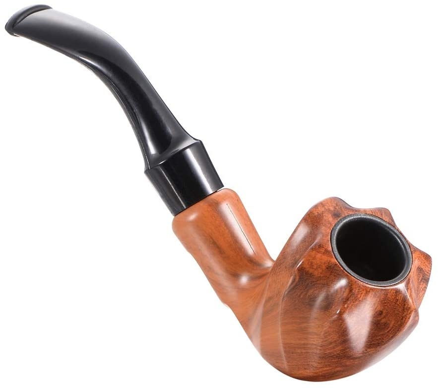 1PC Bent Smoking Pipe, Smoking Pipe Tobacco Cigarettes Cigar Pipes Fathers Day Gift